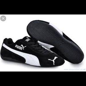 Puma Speed Cat Black Suede Sneakers NWT